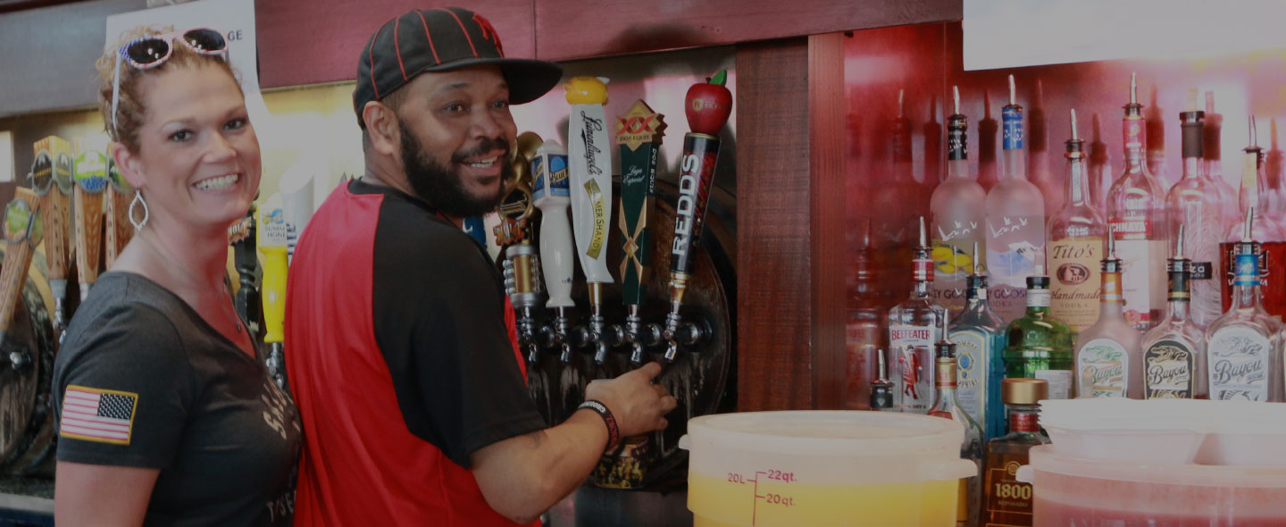 21 beers on tap at Time Out Sports Bar & Grill in New Orleans, LA