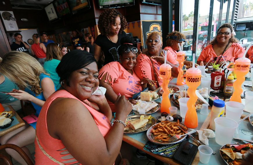 Get everyone together for fun at Poppy's Time Out Sports Bar & Grill in New Orleans