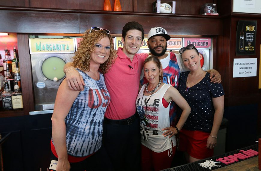 Friendly staff and strong frozen drinks at Poppy's Time Out Sports Bar & Grill in New Orleans