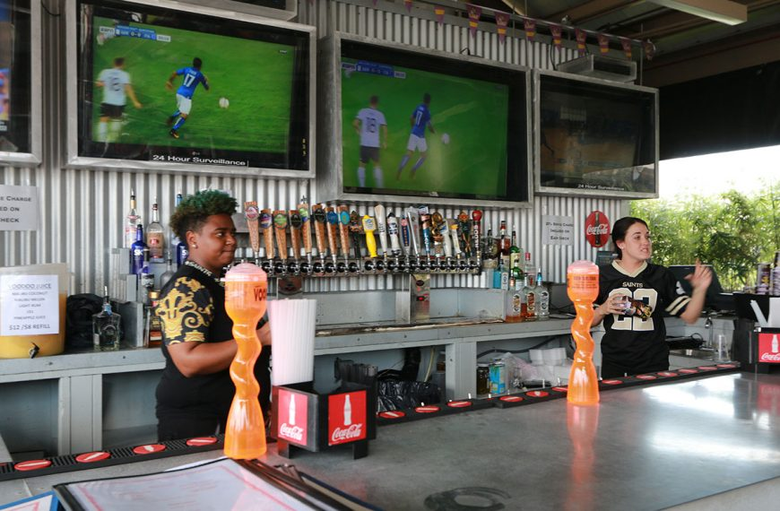 Huge TVs and 21 beers on tap at Poppy's Time Out Sports Bar & Grill in New Orleans
