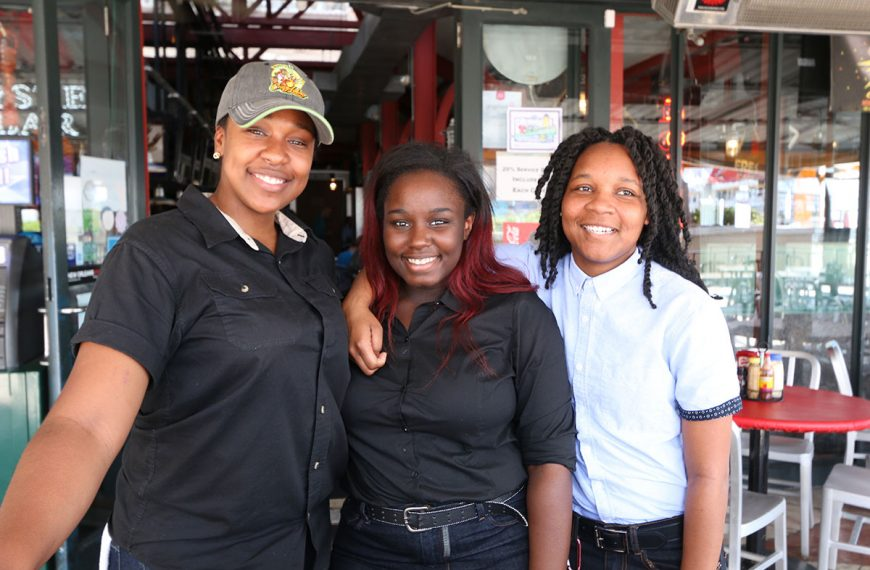 Friendly staff at Poppy's Time Out Sports Bar & Grill in New Orleans